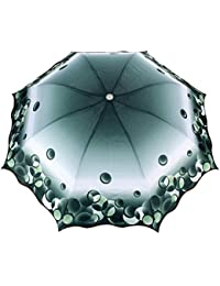 FabSeasons Digital Print, 3 Fold Fancy Manual Umbrella for Rain, Summer & All Weather Conditions