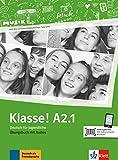 Klasse! A2.1. Übungsbuch mit Audios online: Deutsch für Jugendliche