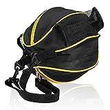 FakeFace Unisex Oxford Gewebe Sporttasche für Basketball Fußball Volleyball Schultertasche Umhängetasche (Schwarz & Gelb)