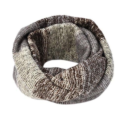 Knit Winter-schal (OverDose Rundschal, Mode Frauen Warm Knit Hals Kreis Cowl Snood mehrzweck Schal O-Ring Schal Deckenschal Halstuch)