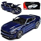 Maisto Ford Mustang VI Coupe Dunkel Blau 50 th Geburtstag Exclusive Kollektion 2015 1/18 Modell Auto mit individiuellem Wunschkennzeichen