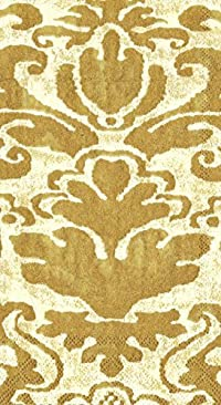 Entertaining with Caspari Palazzo Paper Guest Towels, Ivory, 15-Pack