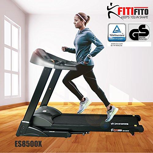 Fitifito ES8500X (Fitifito 8500) Profi Laufband 7PS 22km/h mit LCD Bildschirm, Dämpfungssystem, 5 Trainingsmodulen inkl. HRC - Klappbar,...