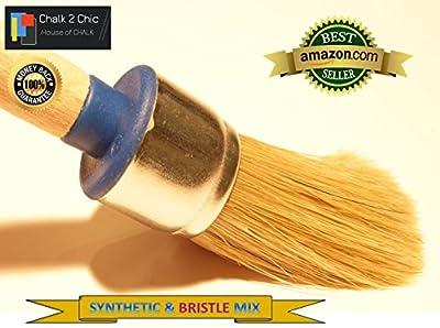 # BB25-25mm-Kleine Plus-Kreide Farbe reinen Borsten und Synthetikfasern Shabby Chic Rund Möbel Malerei Pinsel Pinsel