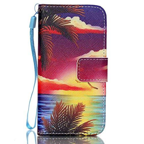 Meet de Folio Apple iPhone SE Case ,Wallet flip étui en cuir / Pouch / Case / Holster / Wallet / Case pour Apple iPhone SE PU Housse / en cuir Wallet Style de couverture de cas Coque pour téléphone po AD005