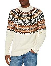 Marca Amazon - find. Jersey con Cuello Redondo Hombre