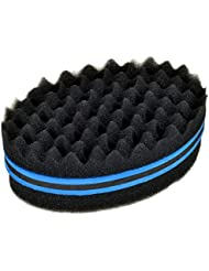 New Double Side Deux en Un Twist Magic Hair éponge Afro Braid style Dreadlock Bobines Vague cheveux Curl brosse éponge