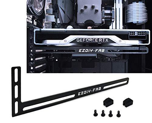 EZDIY-FAB Grafikkarte GPU Brace Support-Videokarte Sehnenhalter Halterung,  eloxiertes Luft- und Raumfahrt-Aluminium, Einzel- Oder