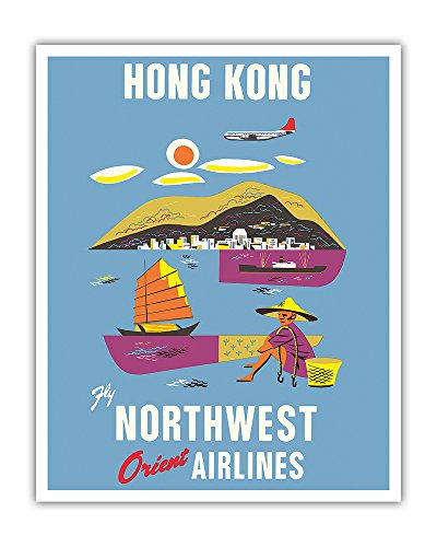 hong-kong-fragrant-harbour-northwest-orient-airlines-vintage-airline-travel-poster-c1952-fine-art-pr