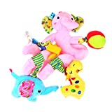 Baoblae Baby Kid Plush Cartoon Toys Teether Bed Stroller Hanging Bell Rattle Musical Toy - style 1, 50cm/19.69inch