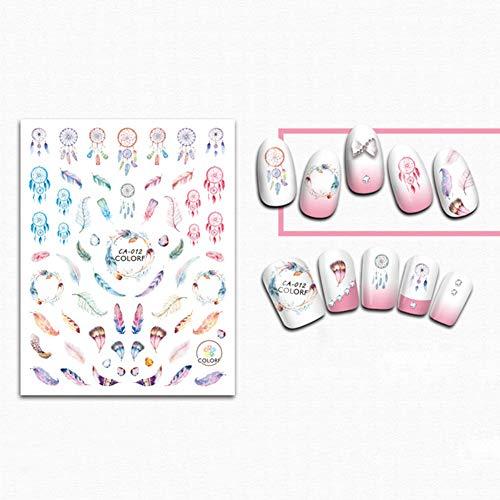 Originaltree 5 Stück erfrischende Traumfänger-Aufkleber für Nagelkunst, Maniküre-Aufkleber Multi