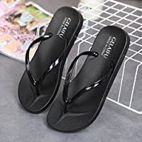 fankou Cool Slippers Summer Female Lovely Anti-Slip Soft, Breathable Beach Shoes Stylish and Simple Outdoor Wear Casual Leaks That The Drag and,37, Black