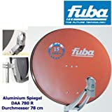 Fuba DAA 780 R - Parabolspiegel, 78 cm, Aluminium, ziegelrot