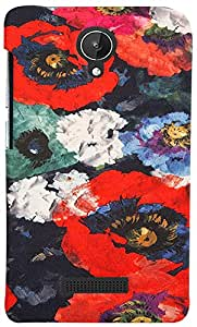 PRINTVISA 3D-MMXSPARK-D7969 Pattern Abstract Floral Case Cover For Micromax Canvas Spark Q380