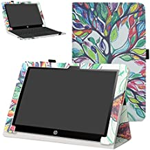 "HP X2 10-p007ns 10-p006ns Funda,Mama Mouth Slim PU Cuero Con Soporte Funda Caso Case para 10.1"" HP X2 10 10-p007ns 10-p006ns Windows 10 Tablet PC(Sólo para HP X2 10-p000ns serie, no son adecuados para HP Pavilion x2 10 10-n000ns serie),Love Tree"