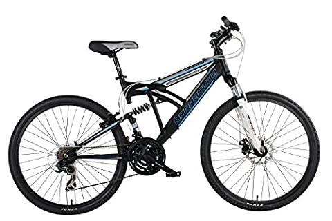Barracuda Phoenix Men's Dual Suspension Mountain Bike - Black ,26-Inch Wheel, 18-Inch Frame