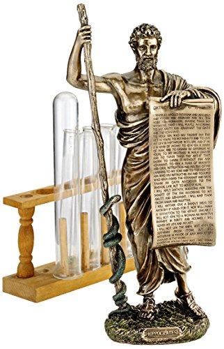 Design Toscano Hippokrates von Kos, Vater der Medizin, Figur (Hippokrates-statue)