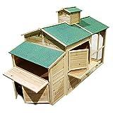 Weißes Hühnerhaus Freilauf Holz Cottage-Style Hühnerstall Käfig Auslauf - 5