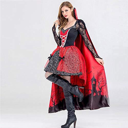 Wissenschaftler Kostüm Halloween - WANLN Halloween Kleid Damenkostüm Cosplay Chemise und Überkleid Kostüm Retro Cosplay Umhang Kleid,OneSize