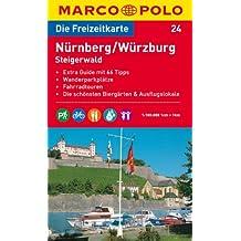 MARCO POLO Freizeitkarte Nürnberg, Würzburg, Steigerwald 1:100.000