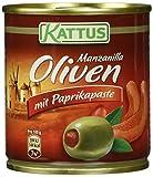 Produkt-Bild: Kattus Manzanilla Oliven mit Paprikapaste, 4er Pack (4 x 200 g)