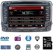 Hotaudio Car Stereo 7 inch 2 Din Autoradio Head Unit for VW Jetta Golf Tiguan Polo Passat Skoda with DVD CD Player GPS Navig
