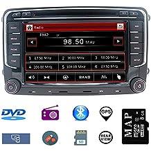 Navegador GPS estéreo para auto para VW,unidad doble Din Head 7 pulgadas 2 din