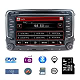 Stereo Home 7 Zoll 2 Din Autoradio Naviceiver für VW Jetta Golf Passat mit DVD CD Player GPS Navigation USB SD CANBUS FM AM RDS Bluetooth Lenkrad Bedienung 720P Video Wince 6.0 SWC 8GB...