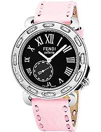 Fendi Selleria Femme 38mm Bracelet Cuir Rose Quartz Montre F81031DCH.SNR07 8332535e042