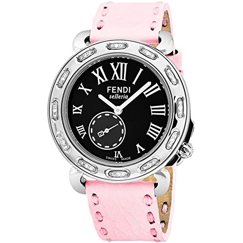 Fendi Women's Selleria 38mm Pink Leather Band Quartz Watch F81031DCH.SNR07