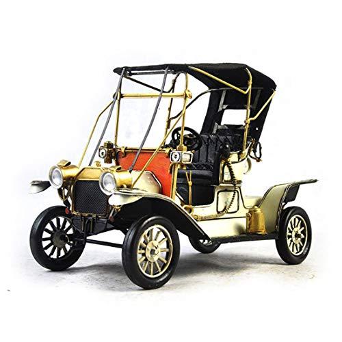 VJUKUB Antique 1912 Ford Oldtimer-Modell Tinplate Hand Gemachte Retro-Eisen-Kunst Home-Dekoration Dekoration Arrangement Foto-Requisiten 35,5 * 15 * 23Cm -