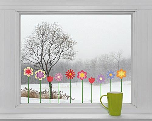 10 Blumen Fenstersticker Fensteraufkleber Sticker F015