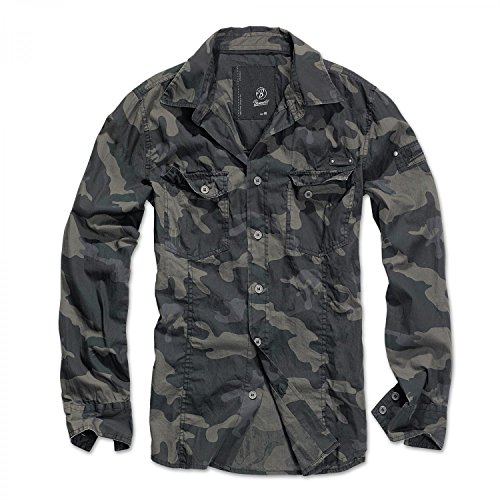 Brandit Slim Fit Shirt Camicia mimetico scuro M
