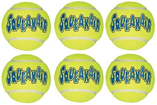 Kong Air Dog Quietschen Air Tennis Ball Hundespielzeug, groß, gelb, 6Zählen