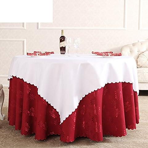 GXX nappes rondes/jardin de style européen Western Wallpapers/ Hôtel table cloth/ nappe/nappe/tissu recouvrant-A 140x140cm(55x55inch)