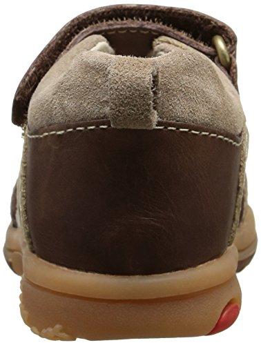 Kickers Plazabi, Chaussures Bébé marche bébé garçon Marron (Marron Foncé/Beige)