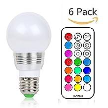 (Pack of 6)Lennystone® 5W Lampada Bulbo a LED con IR