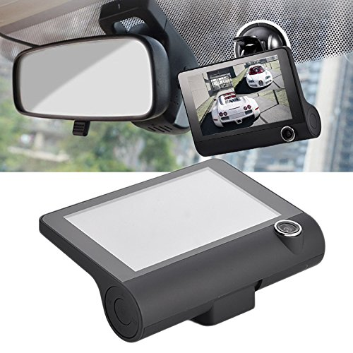 Car Driving Recorders New Model 4 Inches Triple Lenses DVR Dush Camera Car Outdoor and Indoor Video Surveillance HD Night-vision Wide Angle Reversing Video Surveillance