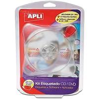 Apli 10959 - Kit de etiquetas para CD/DVD, Unidades contenidas: 1