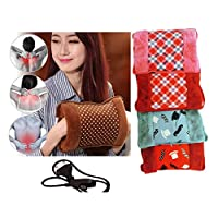 Torix Pink color with green flowers Rechargeable Electric Hot Water Bottle bag Hand Warmer Heater Bag Small Portable for Winter