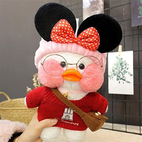YOUHA 30 cm Cartoon Nette LaLafanfan Cafe Ente Plüschtier Gefüllte Weiche Kawaii Ente Puppe Tier Kissen Geburtstagsgeschenk für Kinder Kinder 17 (Ente Plüschtiere)
