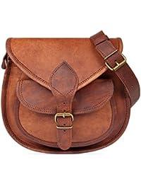 9a81de4171937 Nama  Felicia  Handtasche Echtes Leder Vintage Umhängetasche für Damen Retro  Design Ledertasche Schultertasche Naturleder
