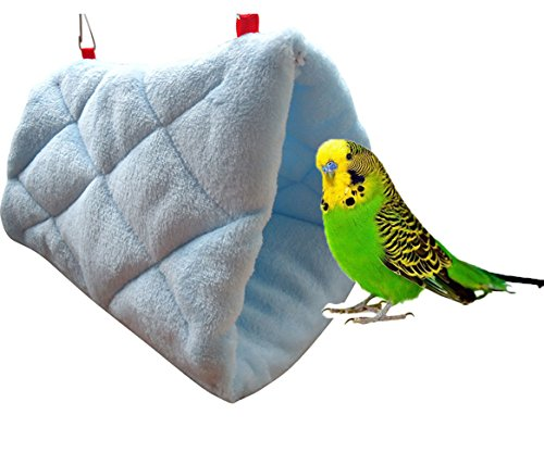 Keersi Warm Bird Nest House Hut Bed Snuggle Hammock for Parrot Budgie Parakeet Cockatiel Cockatoo Conure Lovebird Canary… 1