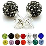 Swarovski Crystal bead Silver Stud earrings. We also sell matching Necklace, Pendands, Bracelets and Dangle drop earrings in a range of great colours. Get some shamballa bling from Nambeads. Choose from the menu below.