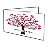 Einladungskarten Hochzeit Klappkarte Hochzeits-Einladung Vogel Eule ausgefallen süss- 60 Stück