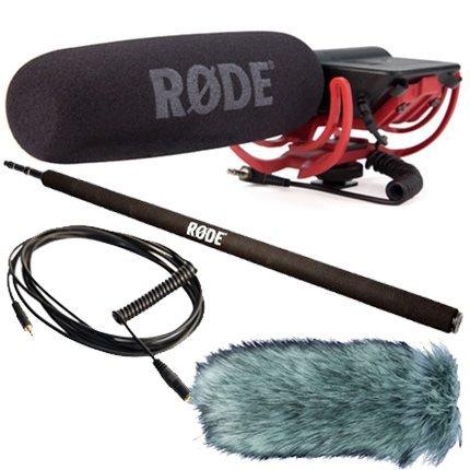 Microfono Rode Videomic (Rycote-Confezione con protezione antivento Deadcat e Micro-Braccio Boom VC1 e cavo di