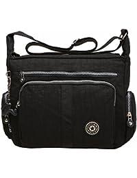 cd1991fe92 Large Capacity Women s Casual Shoulder Bags Waterproof Multi Pockets Nylon  Cross Body Handbags