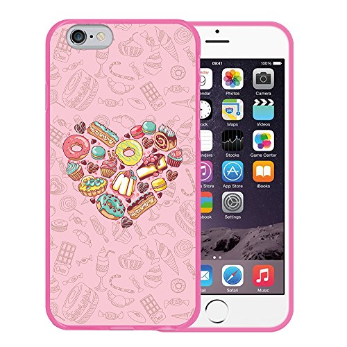iPhone 6 6S Hülle, WoowCase Handyhülle Silikon für [ iPhone 6 6S ] Mondrian Stil Rechtecke Handytasche Handy Cover Case Schutzhülle Flexible TPU - Transparent Housse Gel iPhone 6 6S Rosa D0423