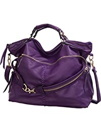 Laurel&Sunset Suri Purple Extra-Large Crossbody Convt. Tote Bag By Laurel And Sunset
