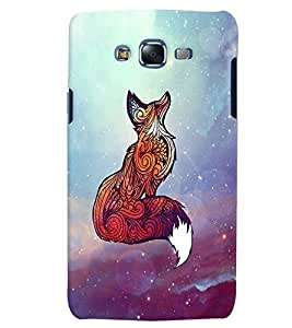 Citydreamz Wolf/Colorful Abstract Design Hard Polycarbonate Designer Back Case Cover For Samsung Galaxy J3